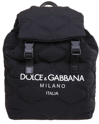 Dolce & Gabbana Quilted Nylon Backpack With Logo
