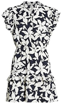 Joie Krystina Ruffle Trim Floral Dress