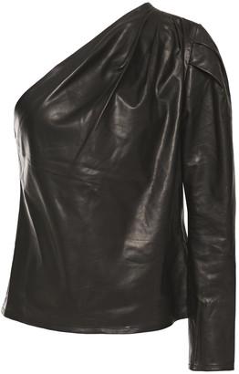 IRO Molia One-sleeve Leather Top