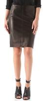 Diane von Furstenberg Clover Leather Pencil Skirt