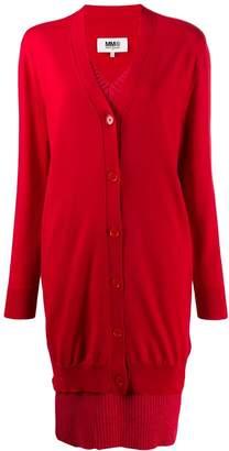 MM6 MAISON MARGIELA layered V-neck knitted dress