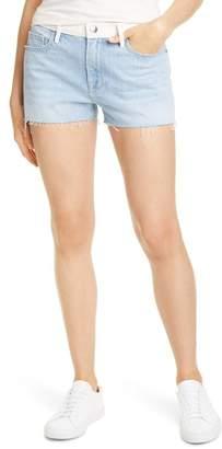 Frame Le Grand Garcon High Waist Raw Denim Shorts (Shear)