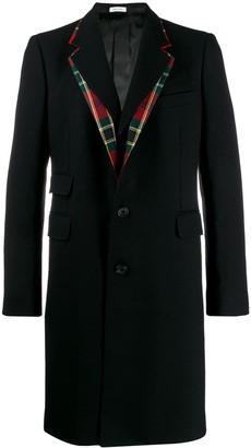Alexander McQueen tartan collar coat