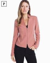 White House Black Market Petite Seamed Zip-Front Jacket