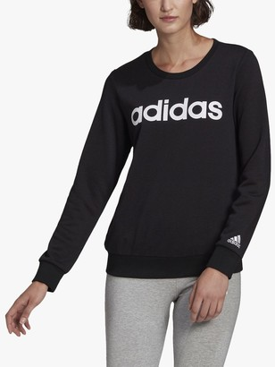 adidas Essentials Logo Sweatshirt, Black/White