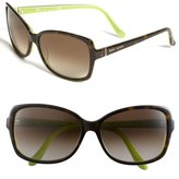 Kate Spade 58mm Two-Tone Sunglasses