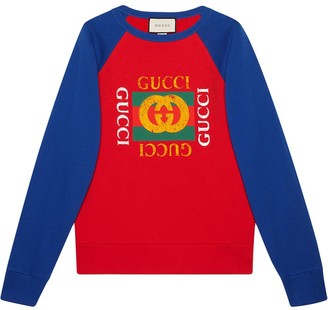 Gucci Cotton jersey sweatshirt with logo