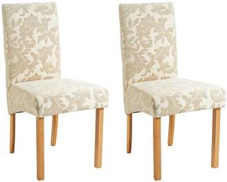 Argos Home Pair of Fabric Skirted Chairs