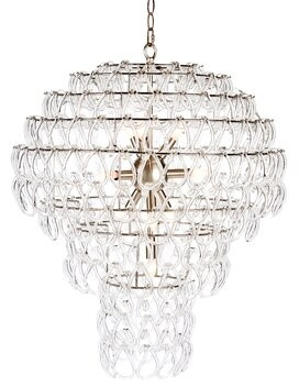 Aidan Gray 10 - Light Unique Tiered Chandelier Finish: Nickel