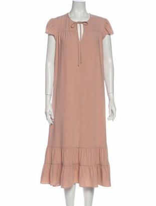 Co V-Neck Long Dress Pink