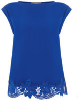 """Oasis LACE HEM TEE [span class=""""variation_color_heading""""]- Mid Blue[/span]"""