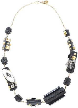 Miu Miu Black Metal Necklaces