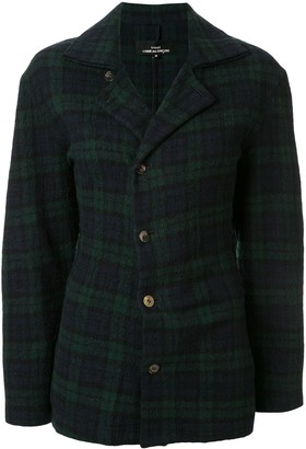 Comme Des Garçons Pre Owned Twisted Effect Checked Jacket