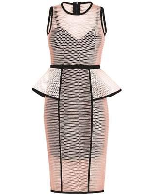 Forever Unique Luxe Sport Peplum Dress Colour: NUDE, Size: 10
