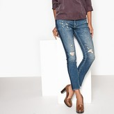Le Temps Des Cerises Distressed Jeans with Side Stripe