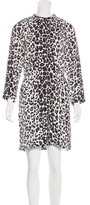 A.L.C. Leopard-Print Silk Dress