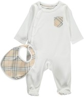 Burberry Jaydin Sleepers + Hat + Bib Set