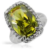 V&A Inspired! Collection Inspired Silver Plated Chrysolite Ring- Size O