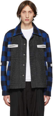 Craig Green Blue Plaid Flannel Worker Shirt Jacket
