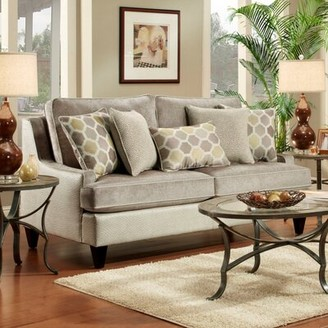 """Wildon Home Monte Carlo 80"""" Wide Faux Leather Square Arm Sofa Upholstery Color: Lavender Faux Leather"""