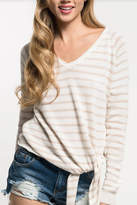 Love Stitch Raglan Stripe Sweater