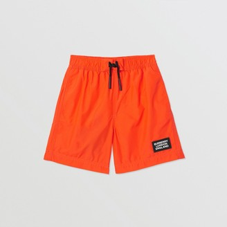 Burberry Logo Applique Swim Shorts