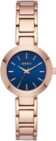 DKNY Stanhope Rose Gold-Tone Stainless Steel Watch