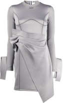 Off-White Off White asymmetric wrap short dress