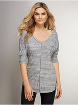 New York & Co. Love NY&C Collection - Space-Dyed V-Neck Tee with Seaming Detail