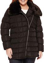 A.N.A a.n.a Asymmetrical Zip Puffer Jacket - Plus