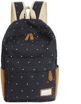 ABC® 1099 ABC® Double-Shoulder Girls Canvas Dots Schoolbag Students Backpacks