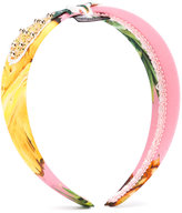 Dolce & Gabbana embellished hairband - kids - Cotton/plastic - One Size