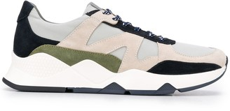 Canali Panelled Low-Top Sneakers