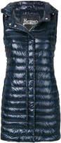 Herno long padded vest
