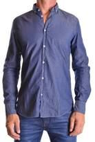 Manuel Ritz Men's Blue Cotton Shirt.