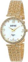 August Steiner Women's AS8078YG Diamond Gold-Tone Bracelet Watch