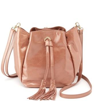 Hobo Puck Convertible Leather Bucket Bag