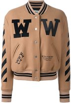 Off-White varsity bomber jacket