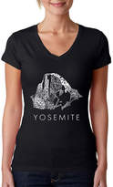 LOS ANGELES POP ART Los Angeles Pop Art Women's V-Neck T-Shirt - Yosemite