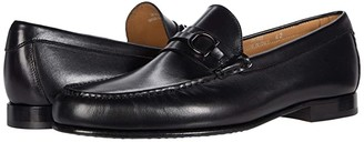 Canali Shaded Calfskin Loafer (Black) Men's Shoes