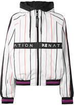 P.E Nation Intensity Hooded Striped Shell Jacket - White