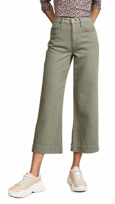 Hudson Women's Holly HIGH Rise Wide Leg Crop 5 Pocket Pant