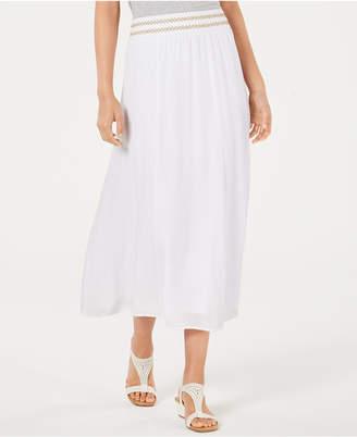 JM Collection Crinkle Gauze Maxi Skirt