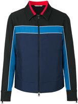 Valentino stripe panel jacket - men - Cotton/Polyester - 46