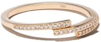 Astley Clarke 14kt yellow gold Icon Scala diamond ring