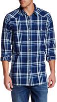 Lucky Brand Santa Fe Plaid Long Sleeve Western Regular Fit Shirt