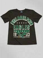 Junk Food Clothing Kids Boys Nfl Philadelphia Eagles Tee-black Wash-xl