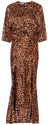 The Attico Leopard-print crApe maxi dress