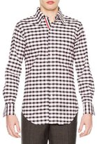 Thom Browne Check Long-Sleeve Sport Shirt, Red/White/Blue