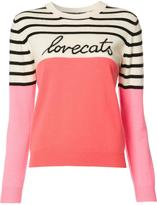 Chinti and Parker embroidered text striped jumper